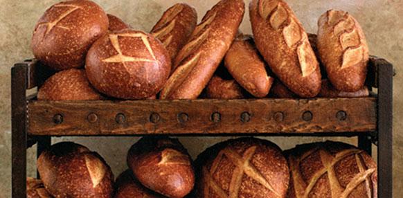 Sourdough bread from the Boudin Bakery in San Francisco, California.