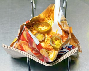 Frito pie from the Five and Dime General Store in Santa Fe, New Mexico.
