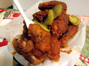 Hot Chicken from Prince's Hot Chicken Shack in Nashville.