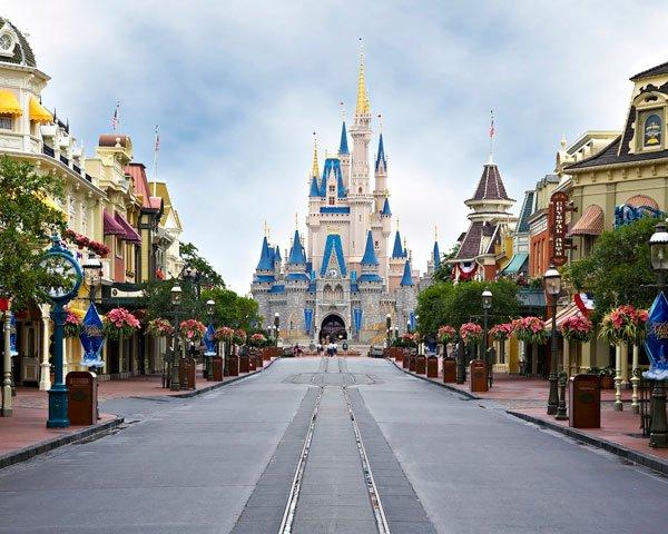 The Magic Kingdom at Walt Disney World in Lake Buena Vista, Florida.