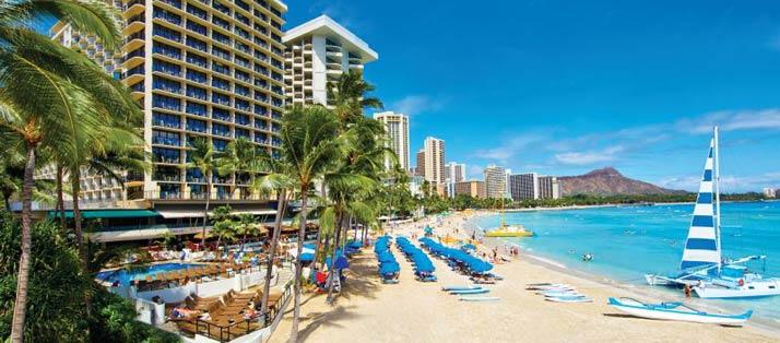 Outrigger Wakiki on the Beach in Honolulu, Hawaii.