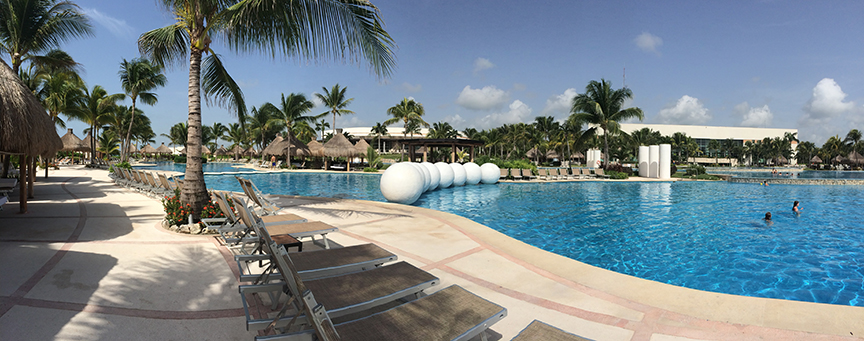 One of the many pools at The Grand Mayan.
