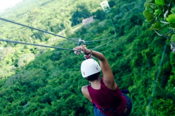 Fly down the zipline at Scape Park.